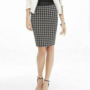 Express Houndstooth Pencil Skirt - Size 4